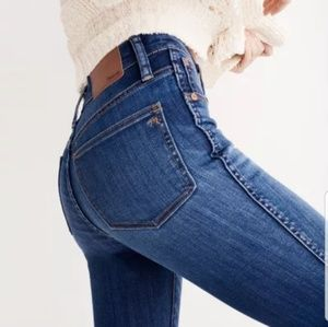 💕 Madewell Alley Straight high rise jean